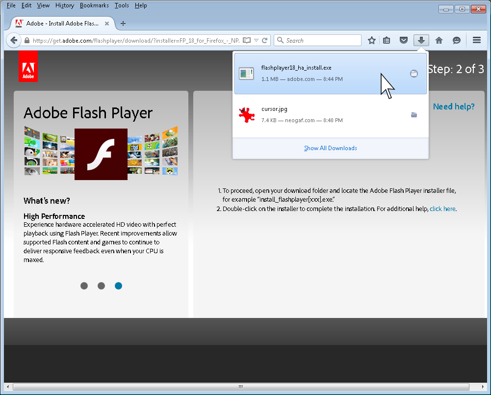 Your Flash Is Out Of Date Ycs You Need Player 8 To View This Site Select The File Run