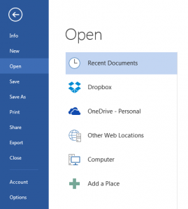 Using Droxbox in Office 365